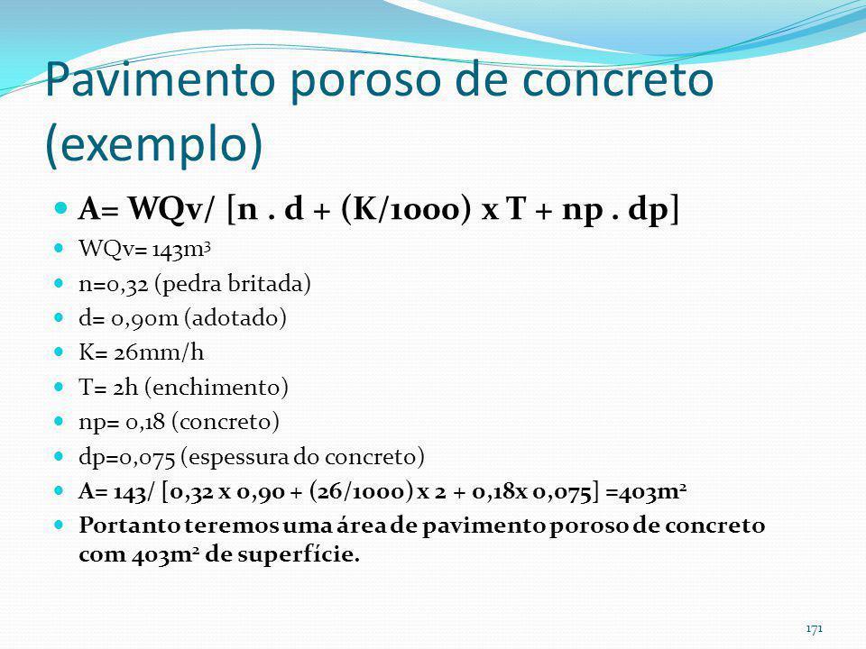 Pavimento poroso (exemplo de pavimento poroso de concreto)