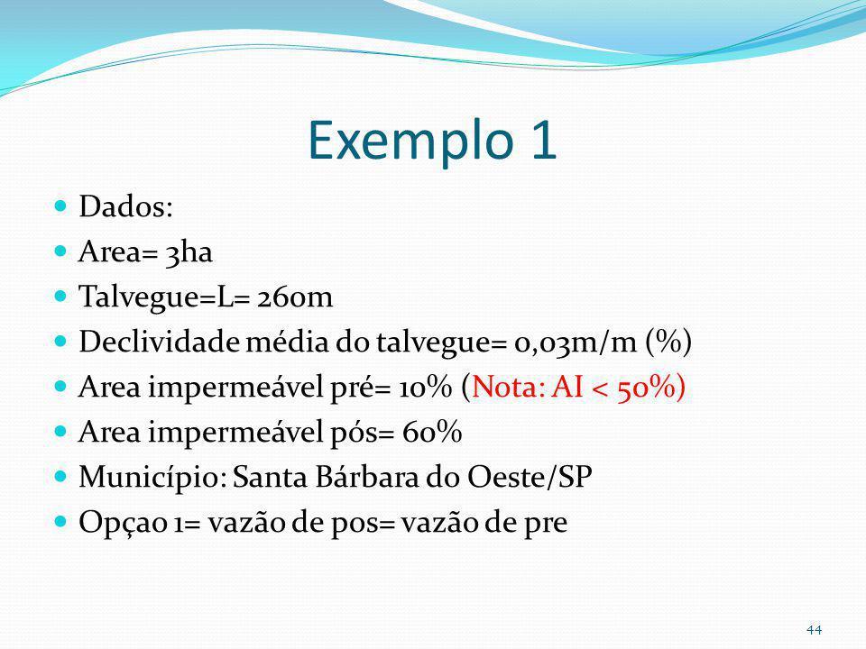 Inicio do exemplo 1 Caso 1 Opção 1