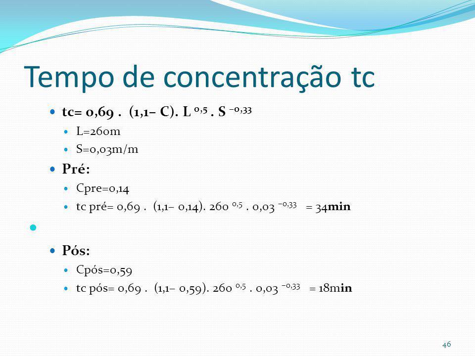 Coeficiente C= Rv Rv=0,05+0,009.AI Pré: AI= 10%
