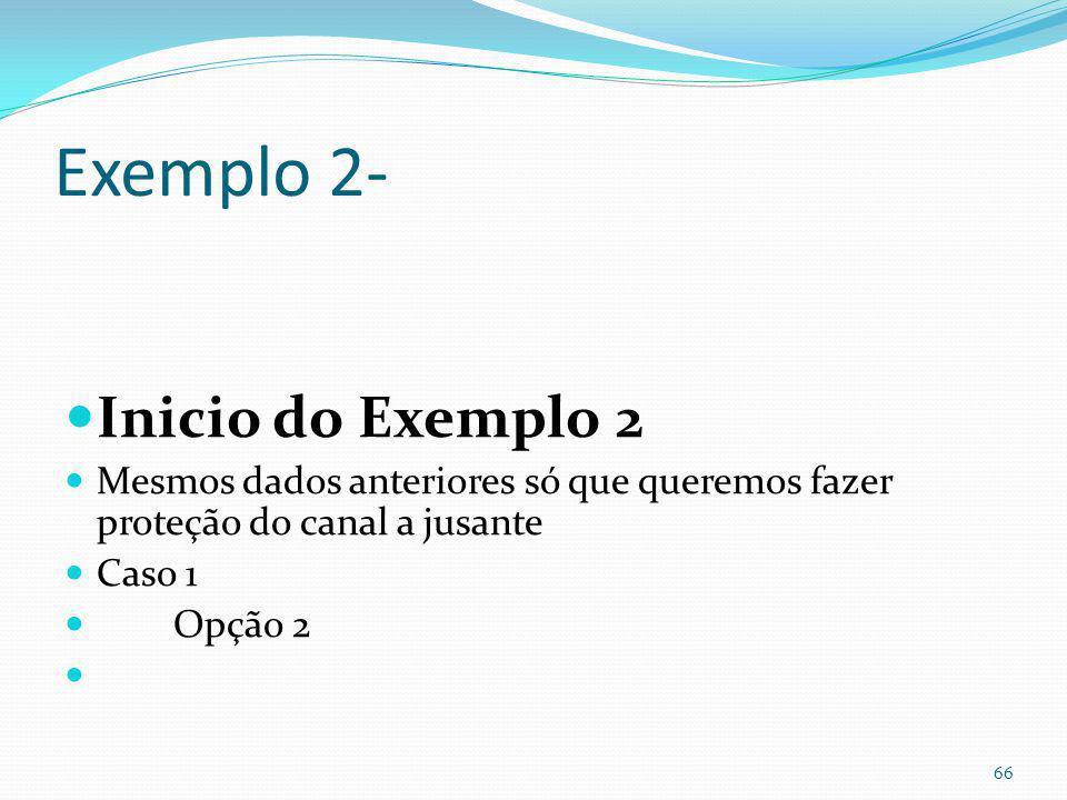 Término do exemplo 1