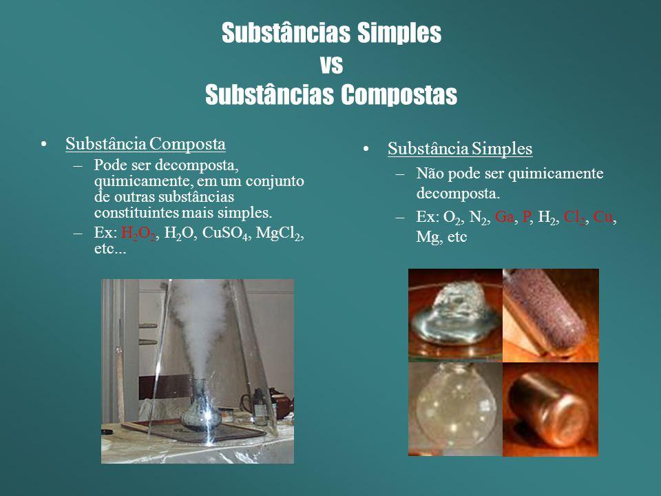Substâncias Simples vs Substâncias Compostas