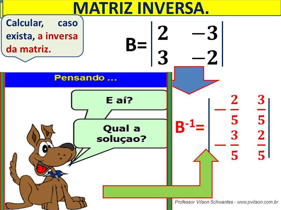 MATRIZ INVERSA. Calcular, caso exista, a inversa da matriz.