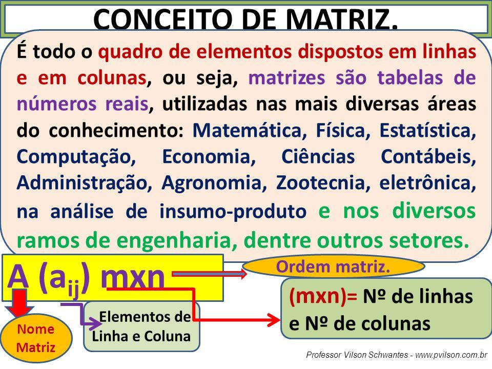 A (aij) mxn CONCEITO DE MATRIZ.