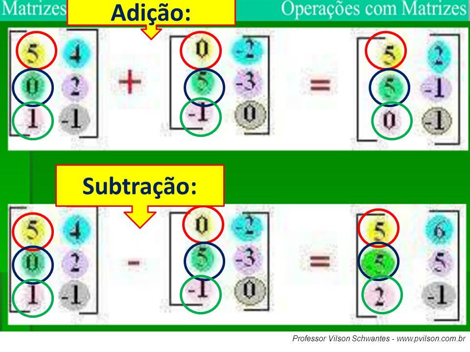 Adição: Subtração: Professor Vilson Schwantes - www.pvilson.com.br