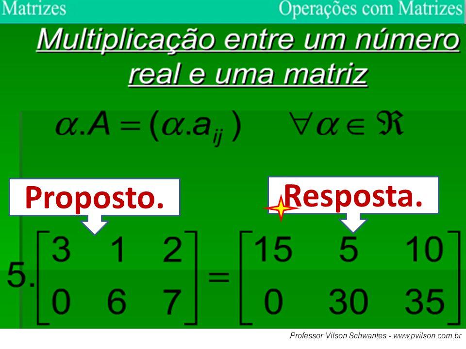Proposto. Resposta. Professor Vilson Schwantes - www.pvilson.com.br