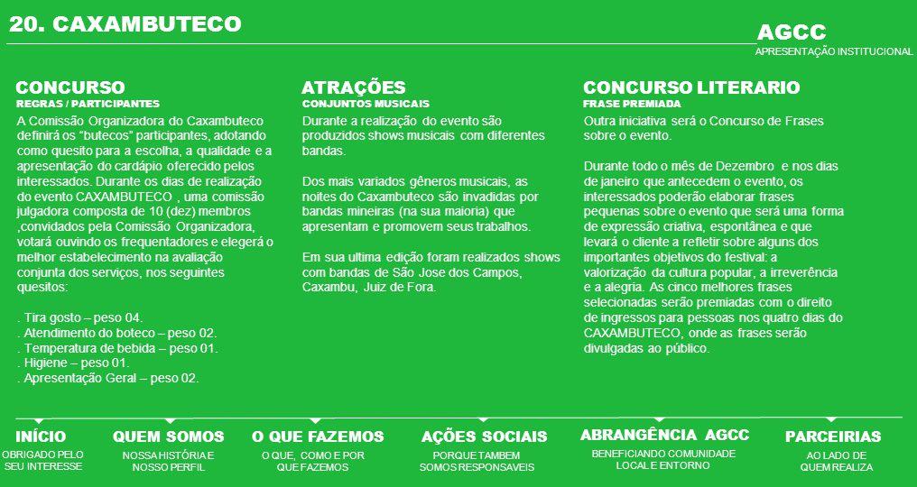 20. CAXAMBUTECO AGCC CONCURSO ATRAÇÕES CONCURSO LITERARIO INÍCIO