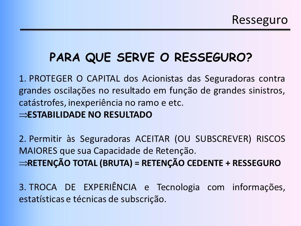 PARA QUE SERVE O RESSEGURO