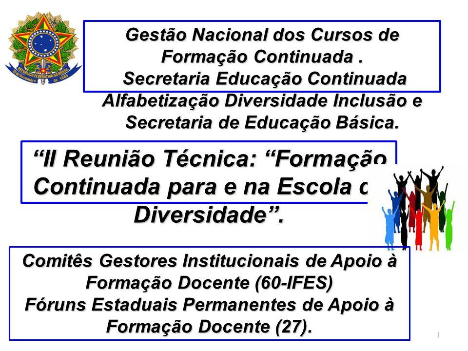 Gestão Nacional dos Cursos de Formação Continuada .