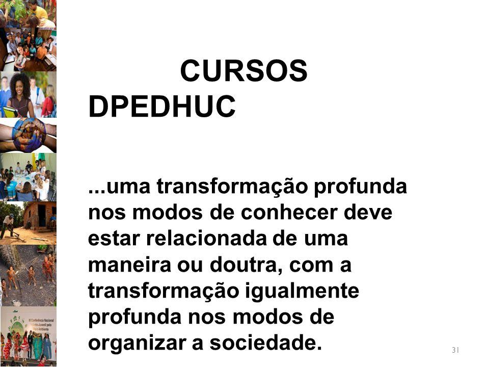 CURSOS DPEDHUC
