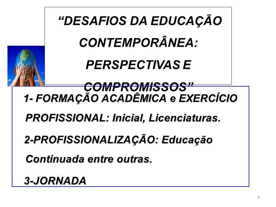 DESAFIOS DA EDUCAÇÃO CONTEMPORÂNEA: PERSPECTIVAS E COMPROMISSOS