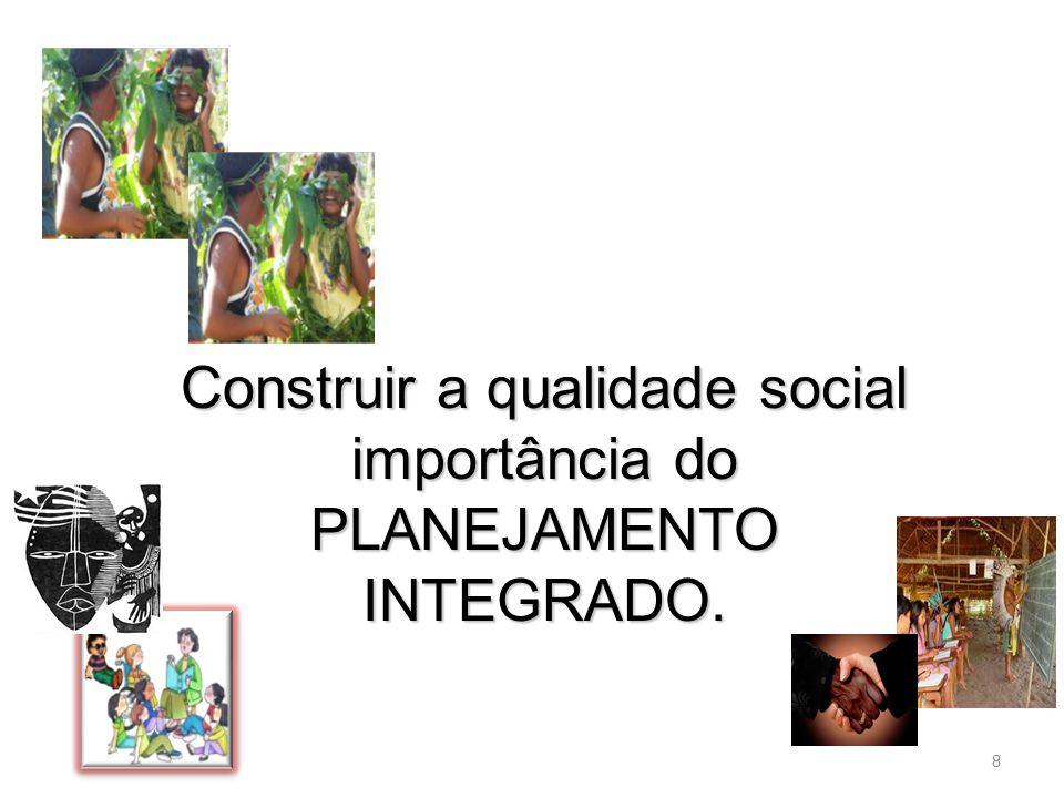 Construir a qualidade social importância do PLANEJAMENTO INTEGRADO.