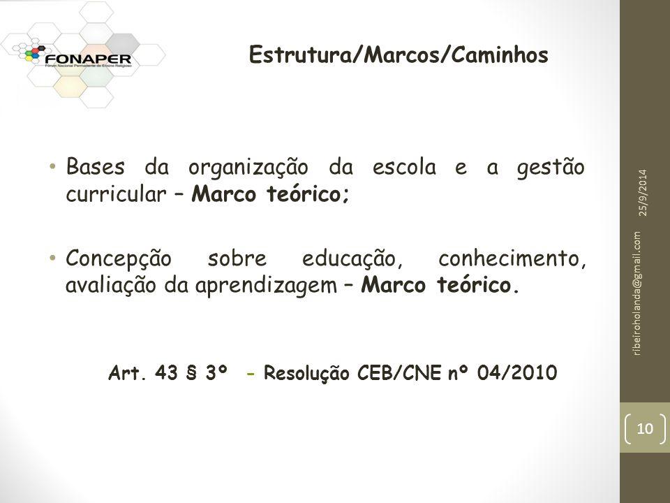 Estrutura/Marcos/Caminhos