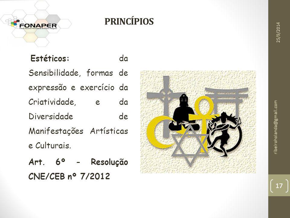 PRINCÍP p PRINCÍPIOS Art. 6º - Resolução CNE/CEB nº 7/2012