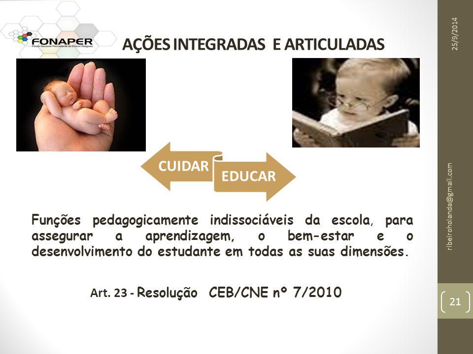 AÇÕES INTEGRADAS E ARTICULADAS