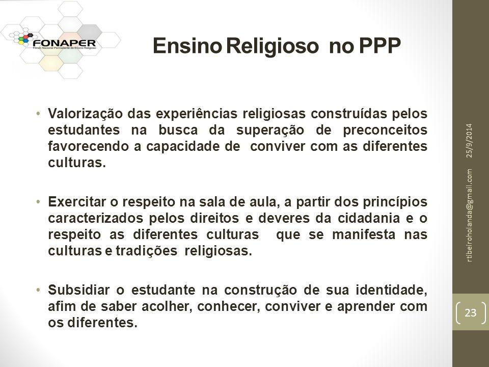 Ensino Religioso no PPP