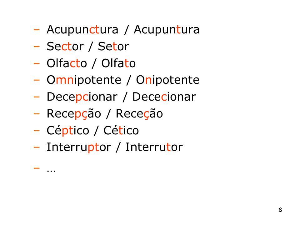 Acupunctura / Acupuntura Sector / Setor Olfacto / Olfato