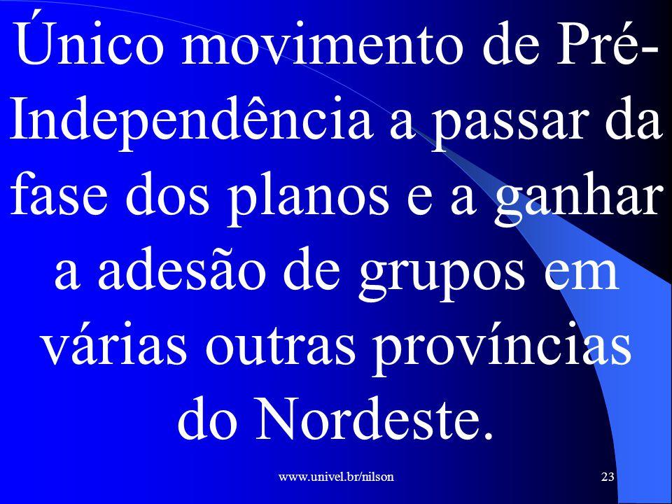 Único movimento de PréIndependência a passar da fase dos planos e a ganhar a adesão de grupos em várias outras províncias do Nordeste.