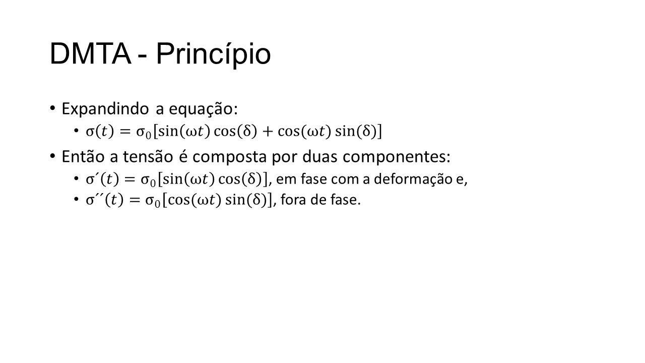 DMTA - Princípio Expandindo a equação: