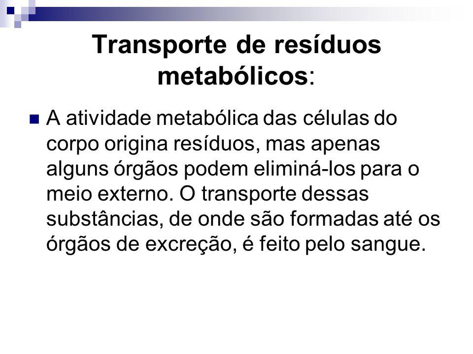 Transporte de resíduos metabólicos: