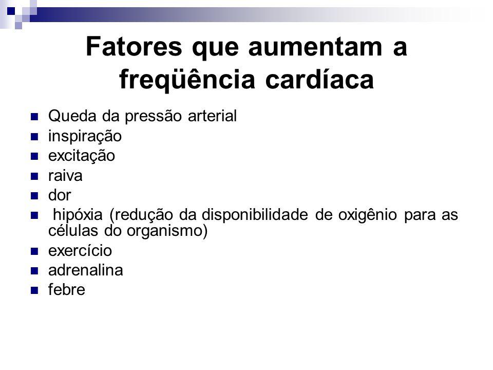 Fatores que aumentam a freqüência cardíaca