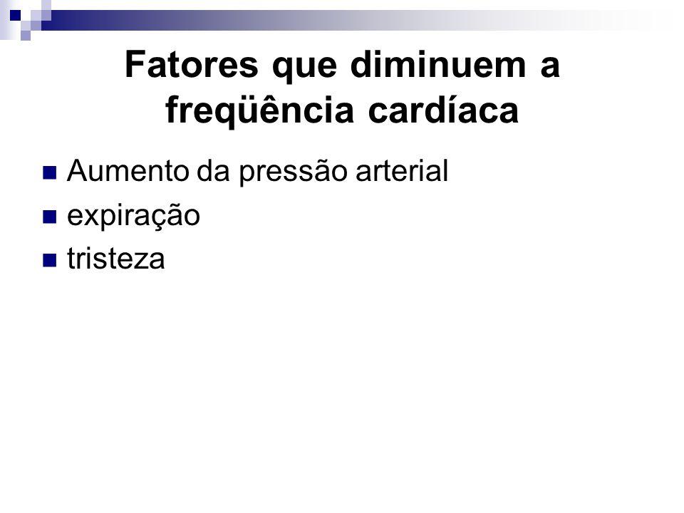 Fatores que diminuem a freqüência cardíaca