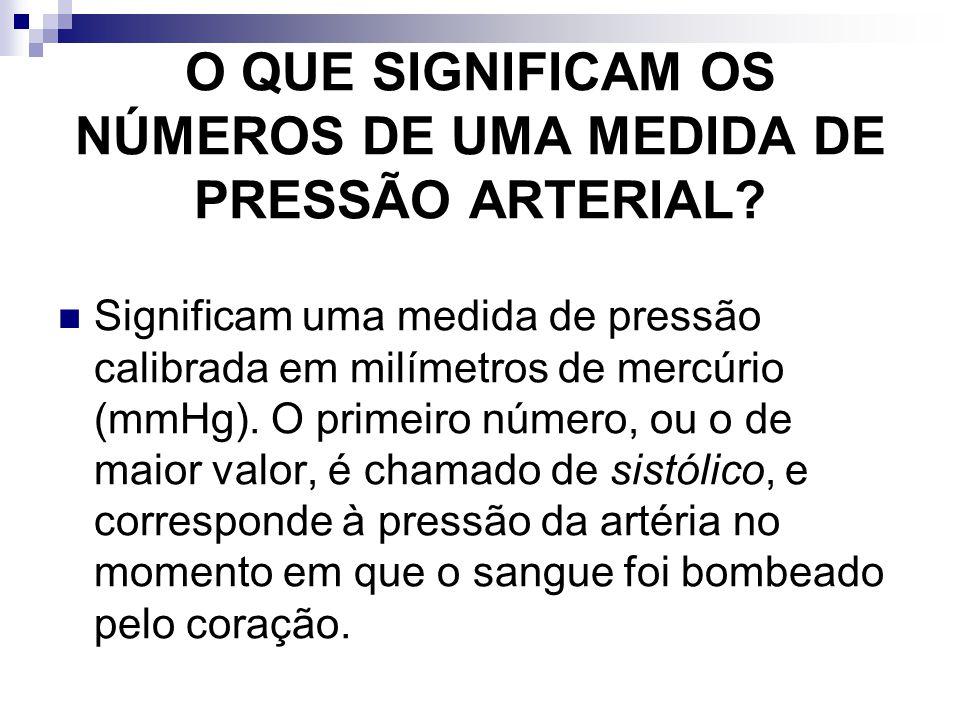 O QUE SIGNIFICAM OS NÚMEROS DE UMA MEDIDA DE PRESSÃO ARTERIAL