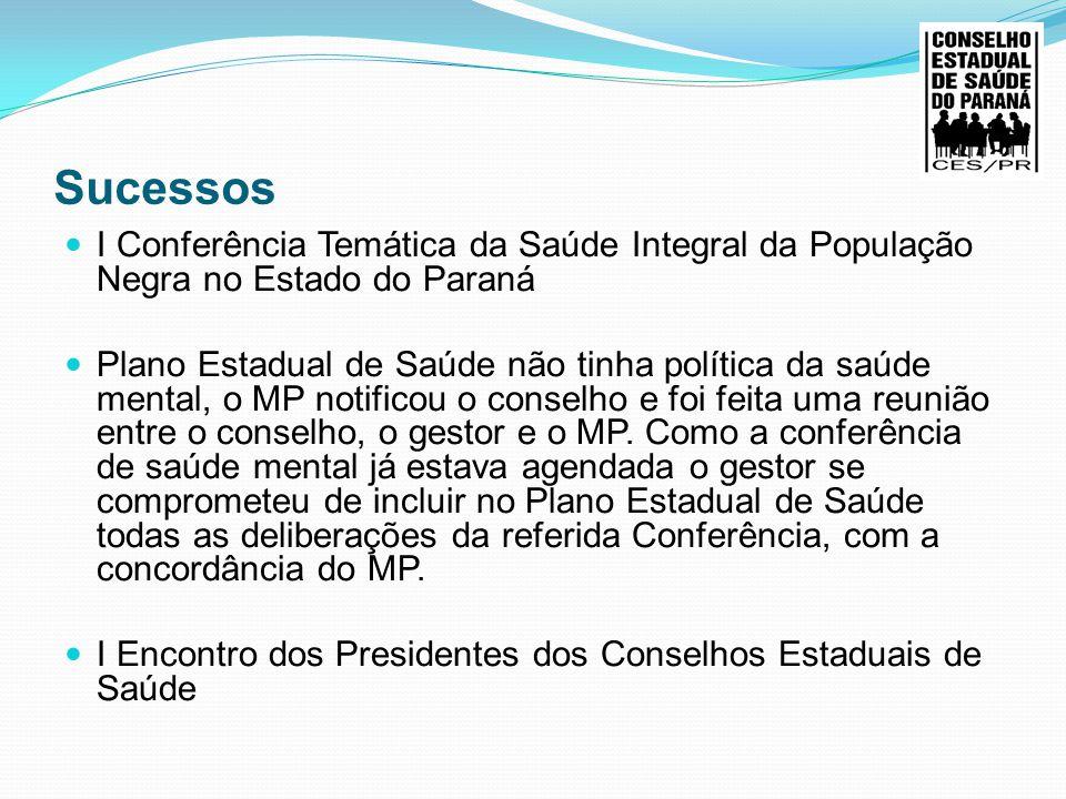 Sucessos I Conferência Temática da Saúde Integral da População Negra no Estado do Paraná.