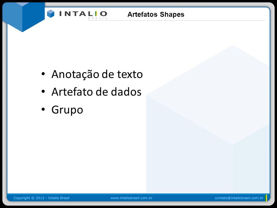 Artefatos Shapes Anotação de texto Artefato de dados Grupo