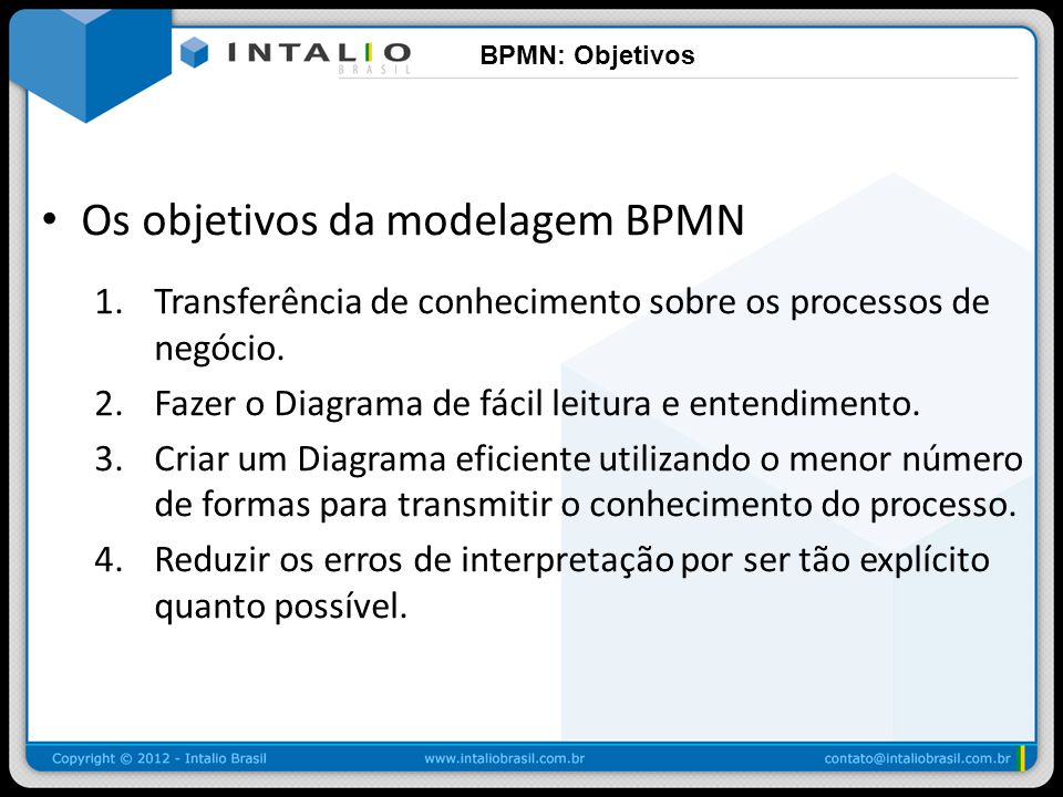 Os objetivos da modelagem BPMN