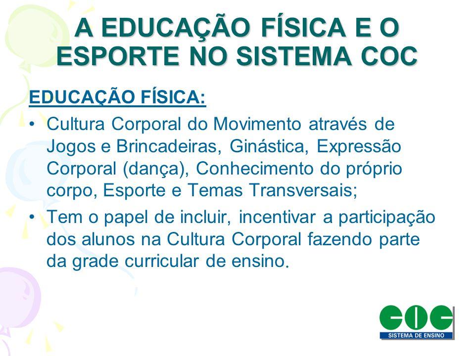 A EDUCAÇÃO FÍSICA E O ESPORTE NO SISTEMA COC