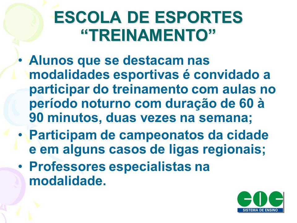 ESCOLA DE ESPORTES TREINAMENTO