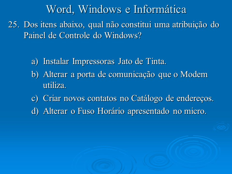Word, Windows e Informática