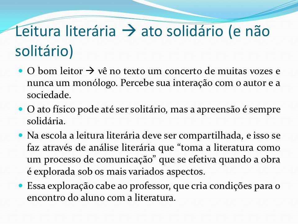 Leitura literária  ato solidário (e não solitário)