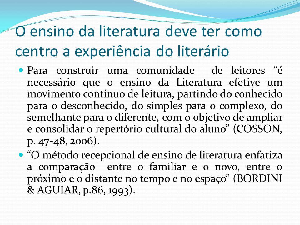 O ensino da literatura deve ter como centro a experiência do literário