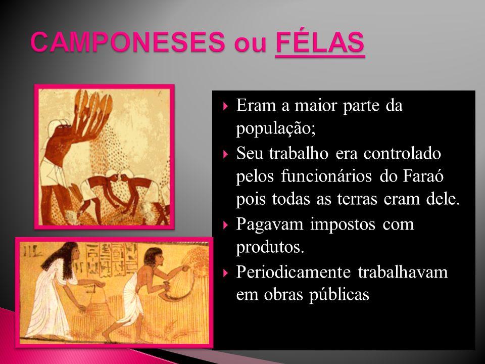 CAMPONESES ou FÉLAS Eram a maior parte da população;