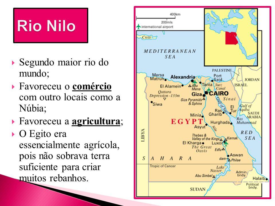 Rio Nilo Segundo maior rio do mundo;