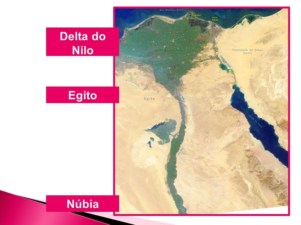 Delta do Nilo Egito Núbia