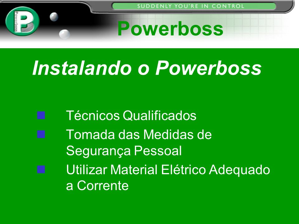 Instalando o Powerboss