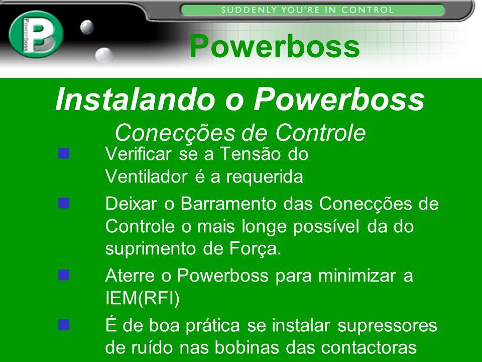 Instalando o Powerboss Conecções de Controle