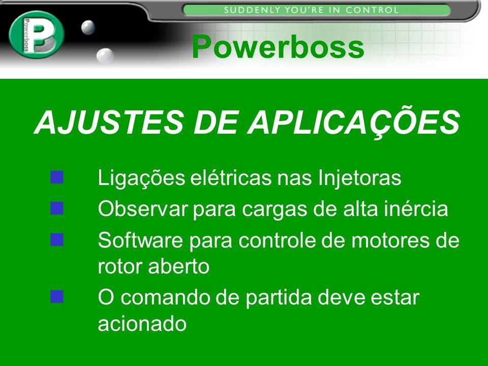 Powerboss AJUSTES DE APLICAÇÕES Ligações elétricas nas Injetoras