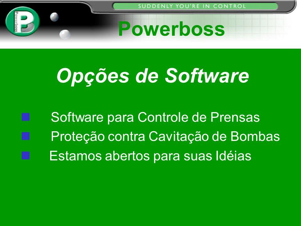 Powerboss Opções de Software Software para Controle de Prensas