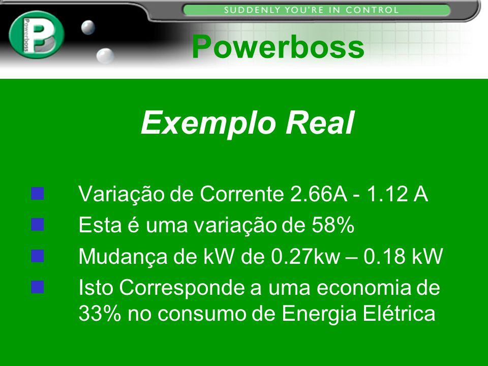 Powerboss Exemplo Real Variação de Corrente 2.66A - 1.12 A