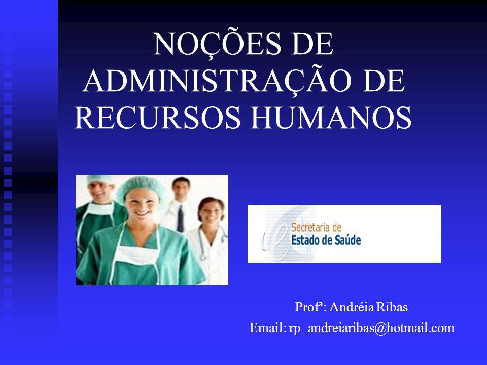 NOÇÕES DE ADMINISTRAÇÃO DE RECURSOS HUMANOS