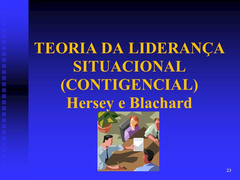 TEORIA DA LIDERANÇA SITUACIONAL (CONTIGENCIAL) Hersey e Blachard