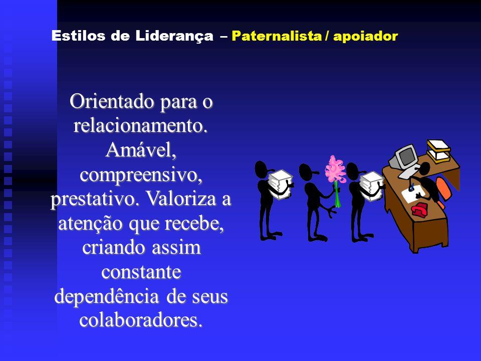 Estilos de Liderança – Paternalista / apoiador