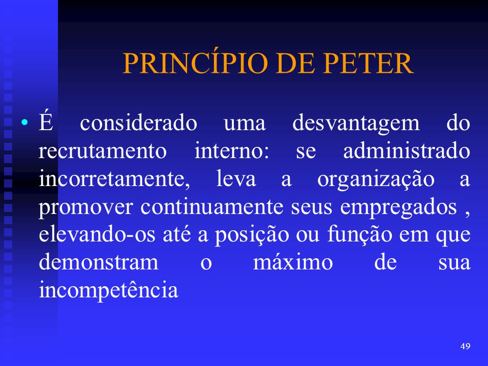 PRINCÍPIO DE PETER