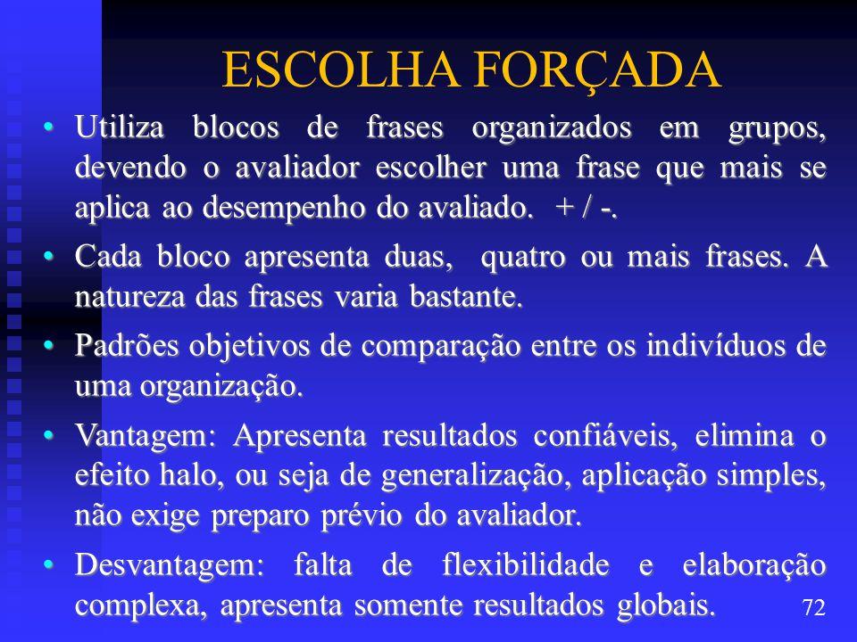 ESCOLHA FORÇADA