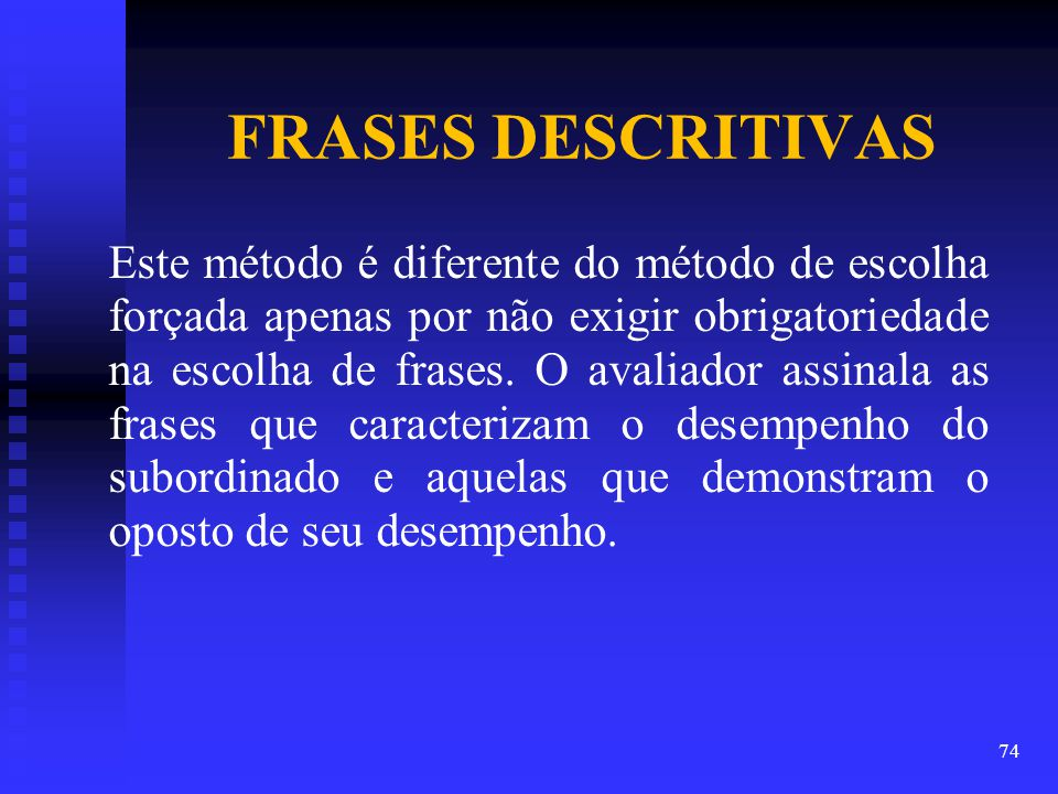 FRASES DESCRITIVAS
