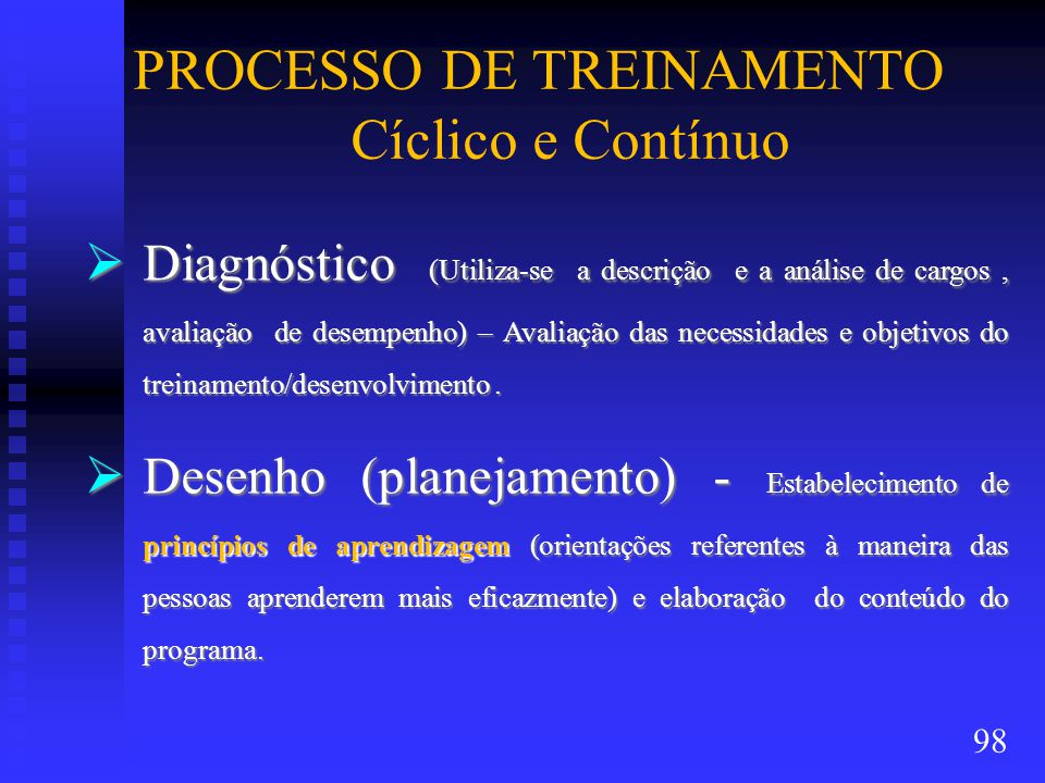 PROCESSO DE TREINAMENTO Cíclico e Contínuo