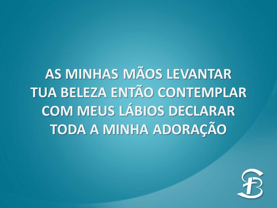 AS MINHAS MÃOS LEVANTAR TUA BELEZA ENTÃO CONTEMPLAR